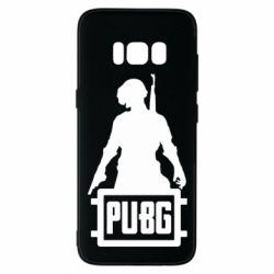Чехол для Samsung S8 PUBG logo and hero