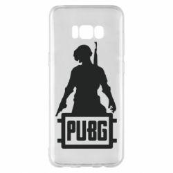 Чехол для Samsung S8+ PUBG logo and hero