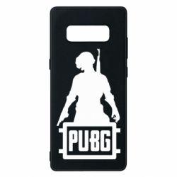 Чехол для Samsung Note 8 PUBG logo and hero