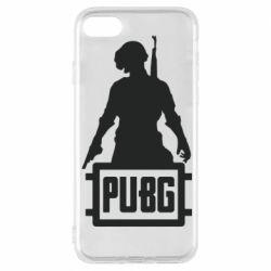 Чехол для iPhone 8 PUBG logo and hero