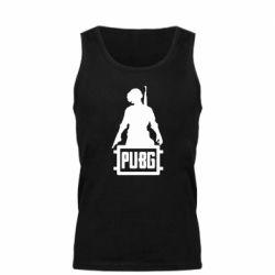 Мужская майка PUBG logo and hero
