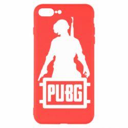 Чехол для iPhone 8 Plus PUBG logo and hero