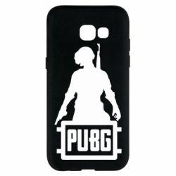 Чехол для Samsung A5 2017 PUBG logo and hero