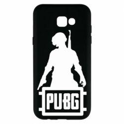 Чехол для Samsung A7 2017 PUBG logo and hero