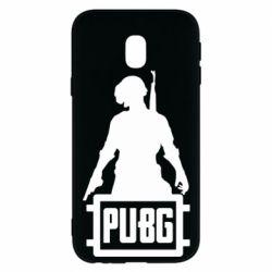 Чехол для Samsung J3 2017 PUBG logo and hero