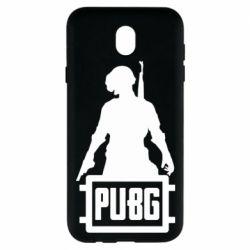 Чехол для Samsung J7 2017 PUBG logo and hero