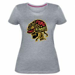 Жіноча стрейчева футболка Pubg skull