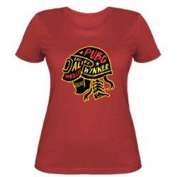 Жіноча футболка Pubg skull