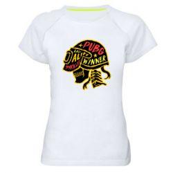 Жіноча спортивна футболка Pubg skull