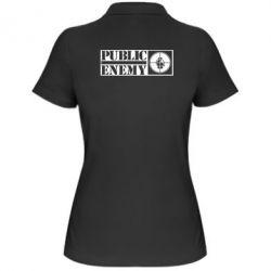 Женская футболка поло Public Enemy - FatLine