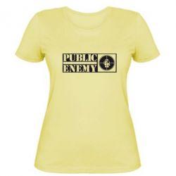 Женская футболка Public Enemy