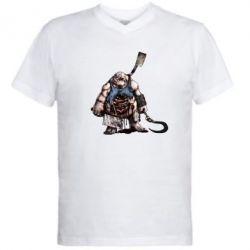 Мужская футболка  с V-образным вырезом Pudge Art - FatLine
