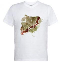 Мужская футболка  с V-образным вырезом Pudge Dota 2
