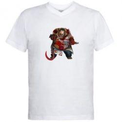 Мужская футболка  с V-образным вырезом Pudge Dota 2 - FatLine