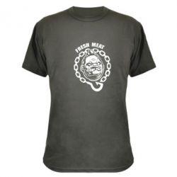 Камуфляжная футболка Pudge Fresh Meat - FatLine
