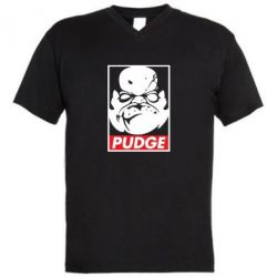 Мужская футболка  с V-образным вырезом Pudge Obey - FatLine