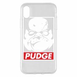 Чехол для iPhone X/Xs Pudge Obey
