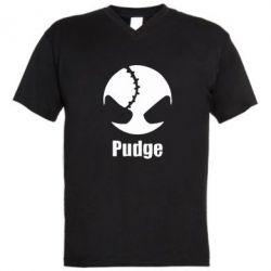 Мужская футболка  с V-образным вырезом Pudge - FatLine