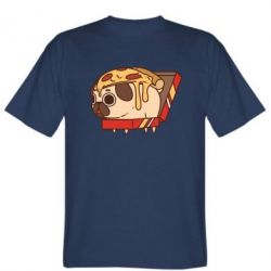 Футболка Pug and pizza