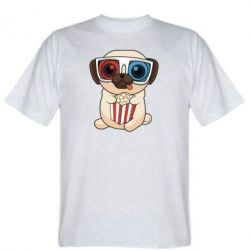 Футболка Pug at the cinema