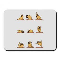 Коврик для мыши Pug engaged in yoga