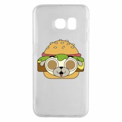 Чохол для Samsung S6 EDGE Pug Hamburger