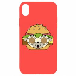 Чохол для iPhone XR Pug Hamburger