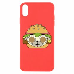 Чохол для iPhone Xs Max Pug Hamburger