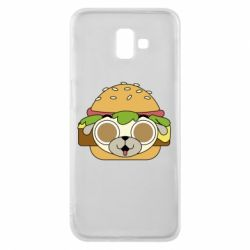 Чохол для Samsung J6 Plus 2018 Pug Hamburger