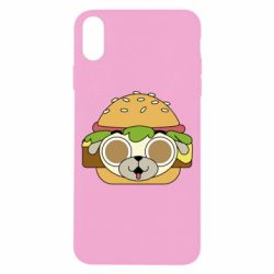 Чохол для iPhone X/Xs Pug Hamburger