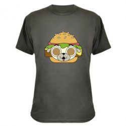 Камуфляжна футболка Pug Hamburger