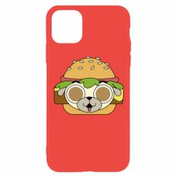 Чохол для iPhone 11 Pro Pug Hamburger