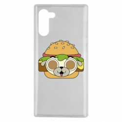 Чохол для Samsung Note 10 Pug Hamburger