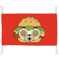Прапор Pug Hamburger