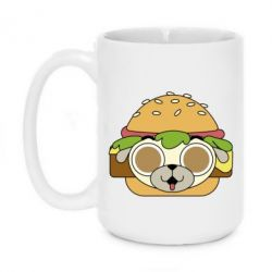 Кружка 420ml Pug Hamburger