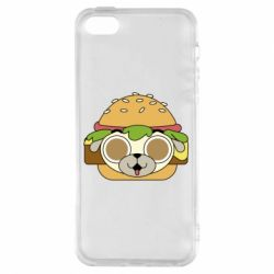 Чохол для iphone 5/5S/SE Pug Hamburger