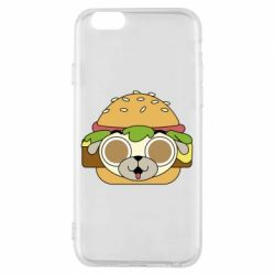Чохол для iPhone 6/6S Pug Hamburger