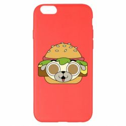 Чохол для iPhone 6 Plus/6S Plus Pug Hamburger