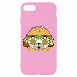 Чохол для iPhone 7 Pug Hamburger