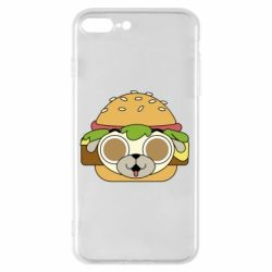 Чохол для iPhone 8 Plus Pug Hamburger