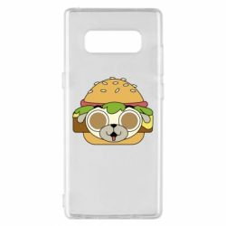 Чохол для Samsung Note 8 Pug Hamburger