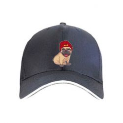 Кепка Pug in a red hat