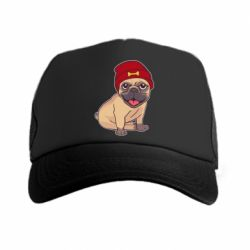 Кепка-тракер Pug in a red hat