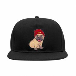 Снепбек Pug in a red hat
