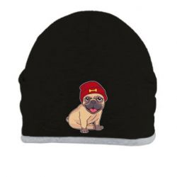 Шапка Pug in a red hat