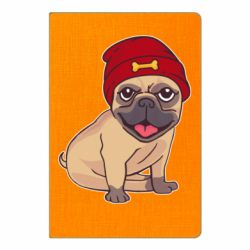 Блокнот А5 Pug in a red hat