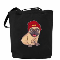 Сумка Pug in a red hat