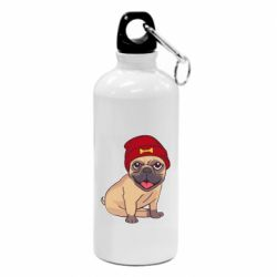 Фляга Pug in a red hat