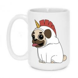 Кружка 420ml Pug in the suit