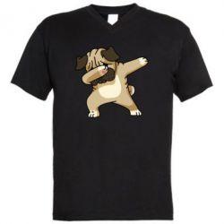 Чоловіча футболка з V-подібним вирізом Pug Swag